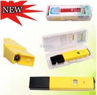 Plástico LCD caja de embalaje del medidor de pH digital probador para el acuario piscina del contador del agua Medida MINI Tipo Lapicero
