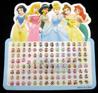 Wholesale 24 sheets pairs Multi Colored stick on earring rings Snow White