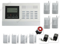 Wholesale wired amp wireless zones LCD display security GSM home alarm system