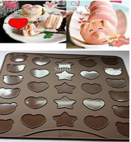 Chocolate Moulds silicone baking sheets - Silicone Macaroon Macaron Baking Pastry Cookie Sheet Mat Party DIY Food cartoon heart star bear