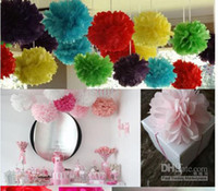 Wholesale 10 quot Tissue Paper Pom Poms Flower Balls Wedding Party Shower Decoration