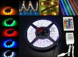 Free Shipping! 5m 300leds RGB SMD5050 Flexible Waterproof Led Strip Tape Light with 24Key controller