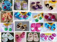 Wholesale Baby girls NEWBORN Mary Janes Shoes Booties handmade crochet Pink cream NEW