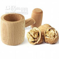 Wholesale Brand NewWooden Screw NutCracker Walnut Cracker Nut Opener