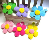 Hair Clips Blending Floral Kids Costume Boutiqu Colorful sun flower cinquefoil baby hair clips children hair clip Infant