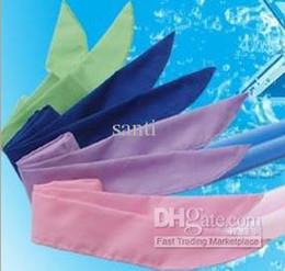 Descuento bufanda para el frío La venda fresca del agua fría empaqueta la bufanda fría Las vendas frescas que refrescan las bufandas del cuello se divierten el refrigerador 4 colores