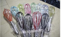 Wholesale Wire Whisk Stirrer Mixer Egg Beater COLOR SILICONE EGG WHISK STAINLESS STEEL HANDLE quot