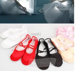 Wholesale Child Adult Ballet Dance Shoes Ballet Pointe Shoes Split Sole slipper Fitness Gymnastics Canvas
