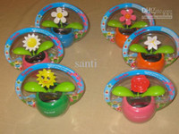 solar power flower - Flip Flap Flower swing Plant Cool Car decorating Solar Powered Dancing flowers doll doll car