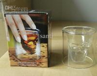 Wholesale creative gift ml Doomed Drinking Ware Crystal Skull Shot Glass Crystal Skull Head Vodka Shot Cup