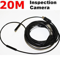 Wholesale 20m USB Cable Waterproof Drain Pipe Plumb Inspection Snake LED Colour Camera
