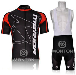 2012 MERIDA Black&Red M09 Short Sleeve Cycling Jersey Bicycle Wear + BIB ShortS KIT A013 Size XS-4XL