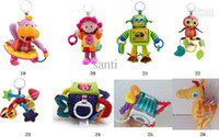 Wholesale 26 style Lamaze musical plush animals toys early development Crib toy rattle teether infant baby toy