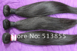 Wholesale High Quality A Straight Wave Virgin Brazilian Human Remy Hair Weft Queen Hair