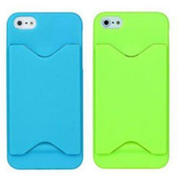 Cheap Fashion Credit Card Slot Hard Plastic Back Case Cover For iPhone 5 5G