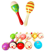13-24 Months cabasa - Funny toy hot sale colorful wooden toy cartoon cabasa baby early development with sasa sound