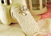 Rhinestone  For Apple iPhone For Christmas flower iPhone 4s Case, iPhone 4 Case-leopard-print Rhinestone iPhone Case