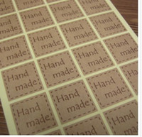 Paper handmade product - Cute Square Sticker for Handmade Products Seals Stickers kraft paper seal sticker gift stickers