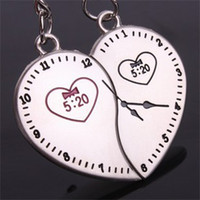 Lover Keychains Promotion Men The 520 clock watch lover couple key chain keychain ring Lovers Valentine's Day gifts