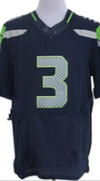 Wholesale New Elite Jerseys QB Blue All Color Size Stitched Mix Order Different Name Size