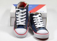 Wholesale Boy amp girl Canvas Shoes kids Cute Leisure Shoes High Tie Zipper Sports Shoes Sneakers Board Shoe