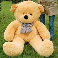 "Teddy Bear Multicolor Christmas free shipping 6 FEET TEDDY BEAR STUFFED LIGHT earthy yellow GIANT JUMBO 72"" size:180cm"
