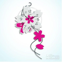 Wholesale Decoration clock wooden clock art wall clock flower clock30 x59cm Creative wall clock