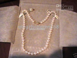 New Fine 20inch 7-8mm white Pearl Jewelry Cultured Pearl Necklace Earrings