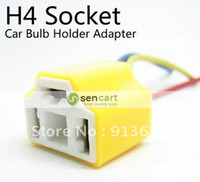 Cheap H4 Socket Car Bulb Holder Adapter For Car DIY