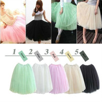 Wholesale HOT Women Princess Fairy Style layered Tulle Bouffant Skirt YSK