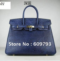 Wholesale Brand New genuine leather handbags Handbag Messenger bag Ostrich pattern packet Leisure bags