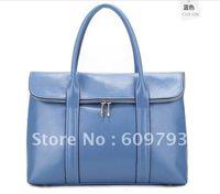 Wholesale Brand Leather handbag Genuine leather bags new Blue beige Handbag Female package
