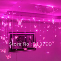 Wholesale New m m Butterfly LED lantern colorful string modes LED Christmas Lights windows decorative lights color