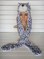 Wholesale 12PCS Cartoon Cap Plush Animal Hat Wolf Snow Leopard Panda Free Drop Shipping