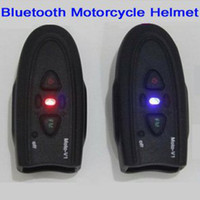 Wholesale Newest Black Bluetooth Motorcycle Helmet Headset DK118 V1 with FM for Motorcycle Riders