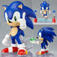 Wholesale Dropship PVC Funny Blue Sonic the Hedgehog Cute Vivid Nendoroid Series