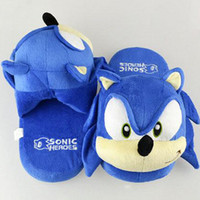 Wholesale Sonic slippers blue Plush Doll inch Adult Plush Sonic Slipper