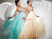 Wholesale Tony Bowls New Beige Sweetheart Prom Dresses Beaded Sequins Crystal Applique Party Dresses
