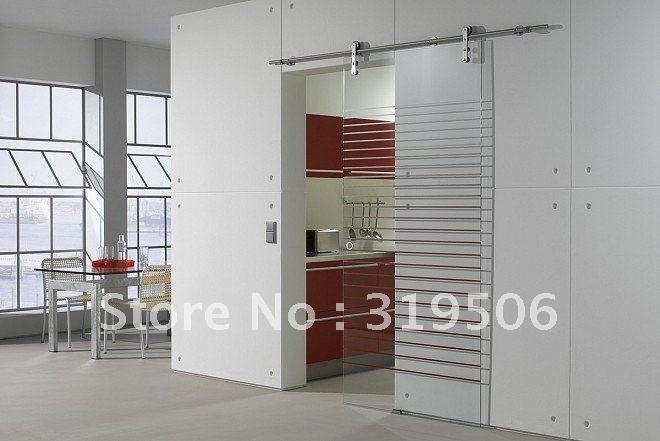 modern barn door hardware for glass door with free shipping