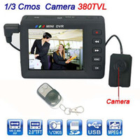 Wholesale Mini AV quot inch TFT LCD Display DVR Spy Button Camera Portable Video Recorder