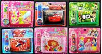 Wholesale 50sets Fashion Kids Cartoon Purse Watch Set Superheros Bob Ben Princess Birds Boy Girl Wristwatch