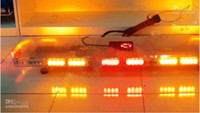 Wholesale police lightbar strobe light bar warning lightbar red amber white blue LED amber warning emergency l