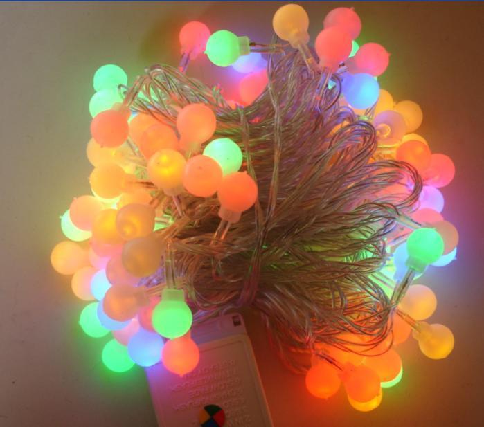 220v 10m 80 Led Ball Colorful String Light Soft Dim Xmas Holiday Wedding Party Garden Decoration ...