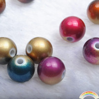 Wholesale MM Multi Colored Acrylic Loose Beads amp Cat s Eye Beads