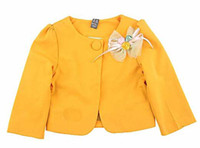 Wholesale Girls Cute Tops Coat With A Flower Tweed Jacket Fashion Casual Coats Children Jackets Kids Clothing
