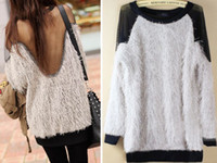 Wholesale Fashion Spring Autumn Sexy Sweater Tops For Women Ladies Gauze Backless Gray