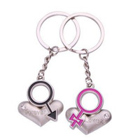 Wholesale Forever Love Heart Lover Lovers Couple keychains key chain ring keychain Pairs