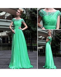 Wholesale Hot Sale Discount Sexy Straight Strapless Lace Ruffle Chiffon Long Prom Dresses Evening Dress