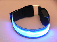 Wholesale Hot Sale Sport Armbelt light Popular Stylish LED Armlet outdoor luminous Reflective lattice Armbands
