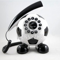 Wholesale Individuality Creative Football Home Table Cord Telephone For House Color